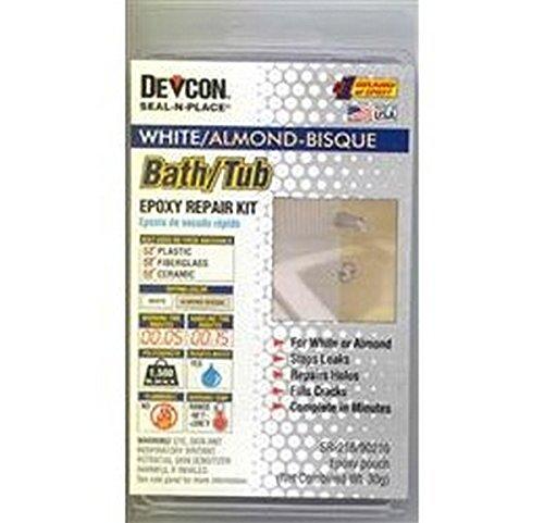 (RV Trailer Camper Bathroom Bath Tub Repair Kit Almond/White 002-90216 )