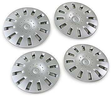 6Q0601027G - Tapacubo de plata para para llantas de acero (4 unidades): Amazon.es: Coche y moto