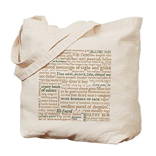 CafePress Unique Design Shakespeare Insults Tote Bag - Standard by CafePress