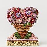 Jim Shore Mini Flower Heart Bouquet Figurine
