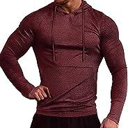 COOFANDY Men's Workout Hoodie Muscle Gym Sport Sweatshirt Long Sleeve lightweight Athletic Pullover Hooded