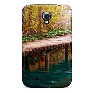 Fashionable Style Case Cover Skin For Galaxy S4- Log Bridge Path