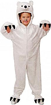 Disfraz de oso polar, el tamaño 116/128, mono animales ajuste ...