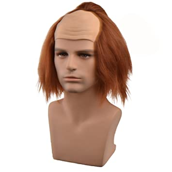 cosin bald head wigs for halloween costume brown