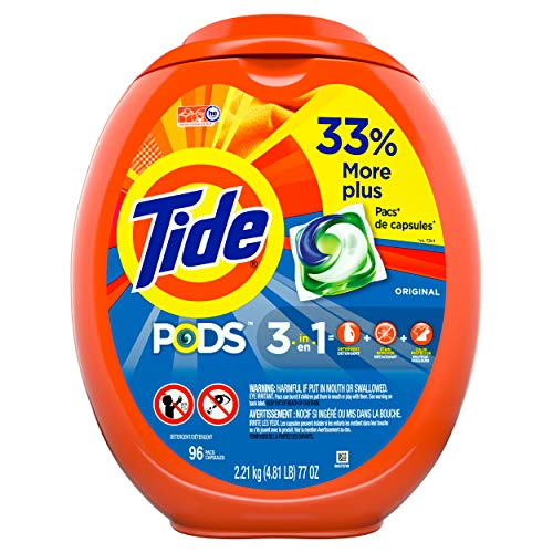 Tide PODS Laundry Detergent Liquid Pacs, Original Scent, HE Compatible, 96 Count (Packaging May Vary) (Best Smelling Laundry Detergent For Guys)
