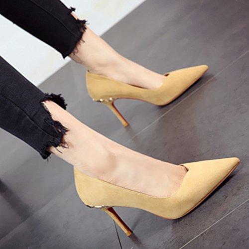 y en verano primavera a zapatos y de altos Sexy alto tacón los tacones FLYRCX con w6yvOq7BP