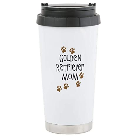 Amazon.com: CafePress – Golden Retriever Mom – Taza de viaje ...