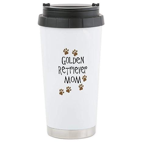Amazon.com: CafePress – Golden Retriever Mom – Taza de viaje ...