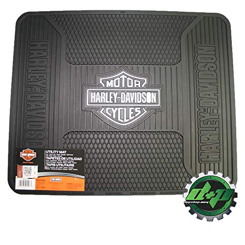 Diesel Power Plus Harley Davidson Utility Floor mat Tread hd Shop Garage Back Rear Floor Gray B&S ()