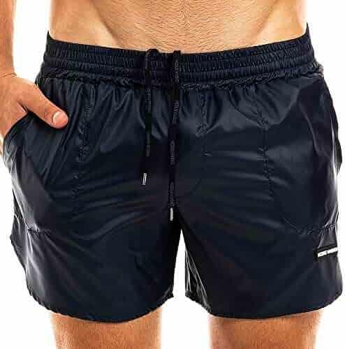 Eaksjd Mans Camo Camouflage Texture Adjustable Waistline Surfing Shorts Cool Swim Shorts