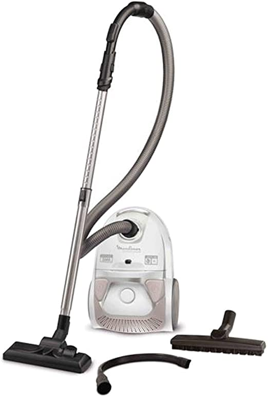 Moulinex MO3967PA - Aspirador con bolsa, color blanco y rosa: Amazon.es: Hogar