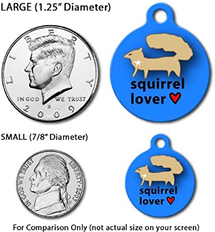 Custom Pet ID Tag for Dogs and Cats Dog Tag Art Single Rose