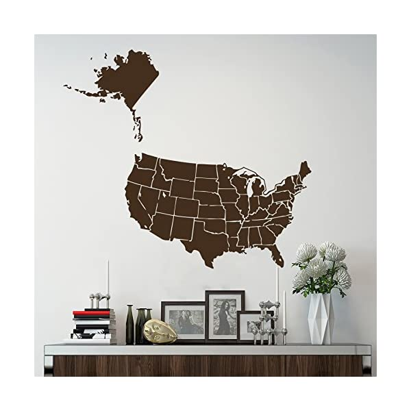 Wall-Decals-World-Map-USA-United-States-of-America-Continents-Countries-Vinyl-Sticker-Home-Decor-Living-Childrens-Room-Stady-Office-ML166