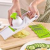 Jeslon Mandoline Slicer Cuts Fruits & Vegetables,5 Piece...
