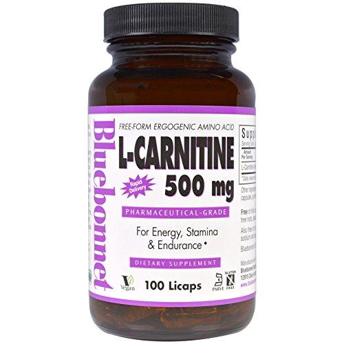 Bluebonnet Nutrition, L-Carnitine, 500 mg, 100 Licaps - 3PC by Bluebonnet Nutrition