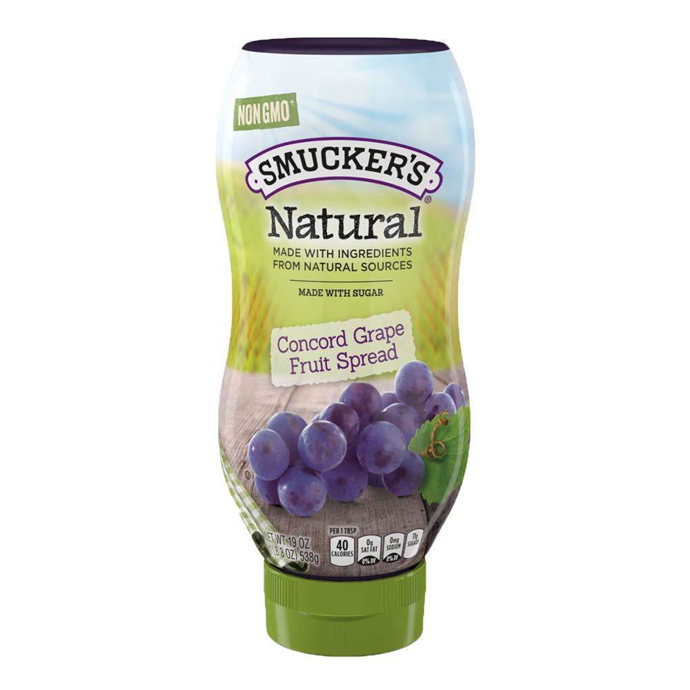 Smucker's Natural Concord Grape Squeezable Fruit Spread, 19 Ounces