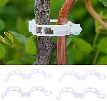 TOOGOO 100 unids Durable 25 mm Plastic Plant Clips de soporte para ...