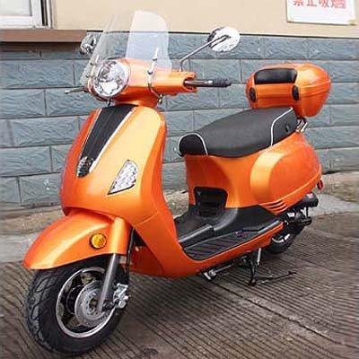 CRT 50 cc Gas ciclomotor scooter motocicleta adultos amarillo