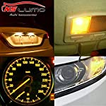 T10 W5W Halogen Bulb Car Clear Shell Glows Yellow Lamps 168 194 w5w Turn Side License Plate Light Car Parking Dome…