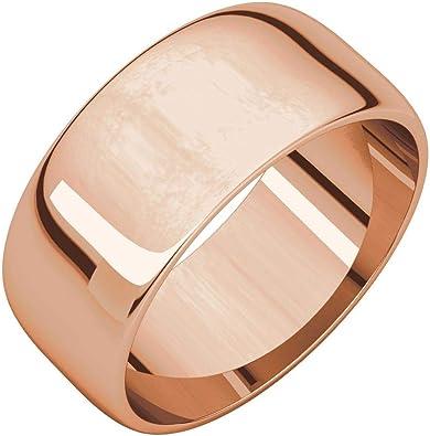 FB Jewels 18 K Rose Gold 2mm Half Round Wedding Ring Band