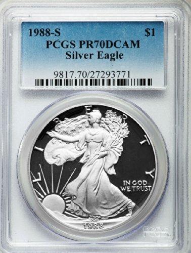1988 S American Silver Eagle Dollar DCAM PCGS PR70