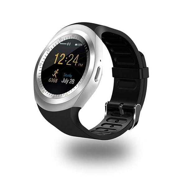 Amazon.com: Halffle Y1 Bluetooth Smart Watch Compatible with ...