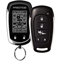 Prestige APS596E 2-Way Paging Keyless Entry Vehicle Security System w/ 1 2-Way LCD Remote & 5-Button Sidekick Remote