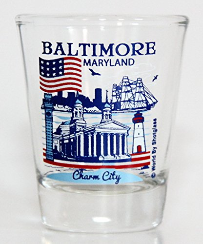 Baltimore Glass - Baltimore Maryland Great American Cities Collection Shot Glass
