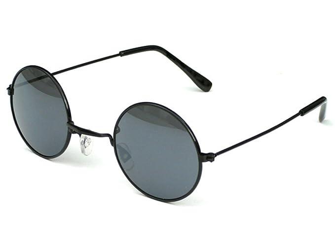 45a97e4e4a612e Tedd Haze Lunettes de soleil style John Lennon ann eacute es 1960 Noir Avec   eacute