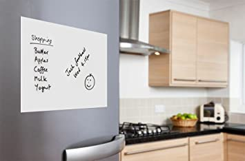 Whitestrawberry A4 Magnetic Whiteboard Sheet Memo Board For Home Kitchen Fridge Door
