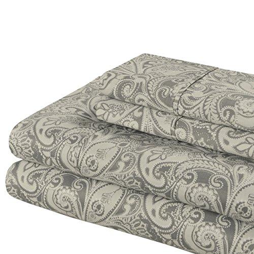 Superior 300 Thread Count Cotton Maywood Print Sheet Set, King, - Shipping Internationally Cost