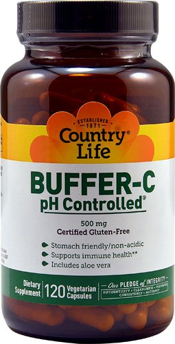 Country Life Buffer-C pH ControlledT -- 500 mg - 120 Vege...