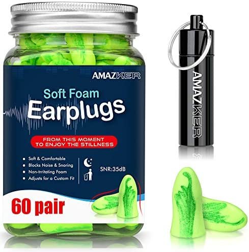 AMAZKER Bell Shaped Earplugs Sleeping Reduction product image