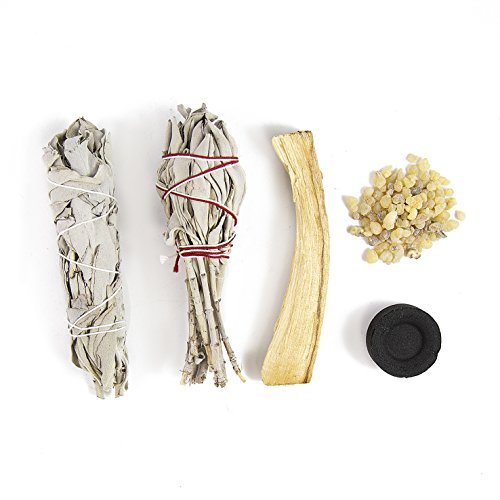 Beverly Oaks Smudging Bundle, Perfect for Rituals, Meditation, Protection and Incense - Features California White Sage, Palo Santo and Frankincense - Sacred Incense Pack