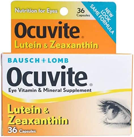 Bausch & Lomb Ocuvite Lutein Capsules 36 Capsules (Pack of 3)