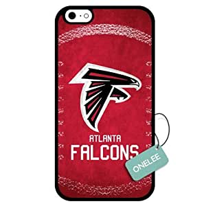 Onelee(TM) - Customized NFL Atlanta Falcons Team Logo Design TPU Case Cover for Apple iPhone 6 - Black 01 by mcsharks