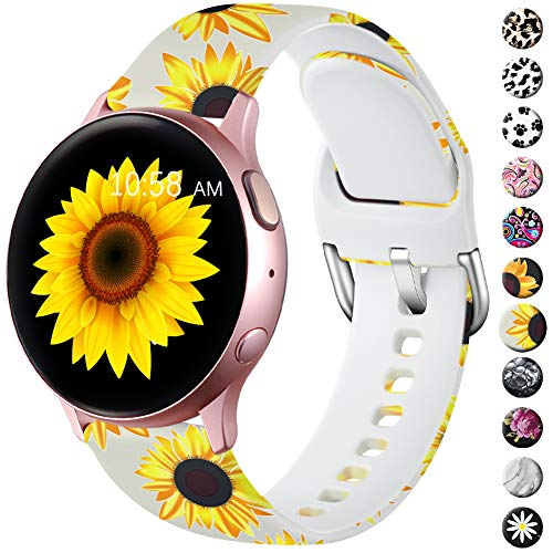 LEOMARON Bands for Samsung Galaxy Watch Active/Active 2 Bands 40mm 44mm/Galaxy Watch 42mm, 20mm Pattern Printed Fadeless Replacement Wristband for Galaxy Gear S2 Classic/Gear Sport Women