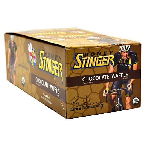 Stinger Lo Chocolate - Stinger Waffle, Chocolate, 16 Each, From Honey Stinger by Honey Stinger