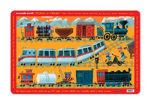 (Crocodile Creek World of Trains Placemat)