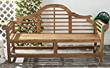Safavieh Patio Collection Felicity Adirondack Acacia Wood Bench, Natural