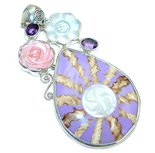 Blister Pearl Women 925 Sterling Silver Pendant - FREE GIFT BOX
