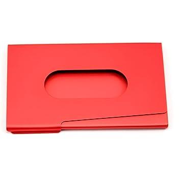 Paico Support De Carte Visite En Aluminium Fin Poids Lger Rouge