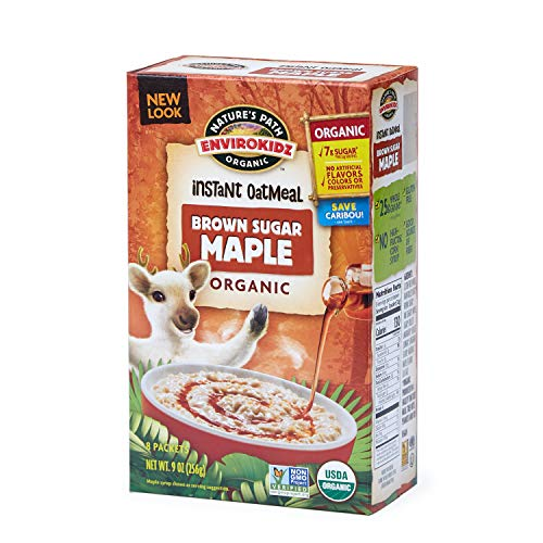 Nature's Path EnviroKidz Brown Sugar Maple Instant Hot Oatmeal, Healthy, Organic, Gluten-Free, 9 Ounce Box Arrowhead Mills Hot Cereal