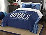 MLB Kansas City Royals Grand Slam Two Sham Set, Royal Blue, Full/Queen Size