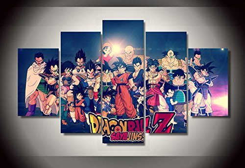 Anime dragonball-z print canvas in 5 pieces