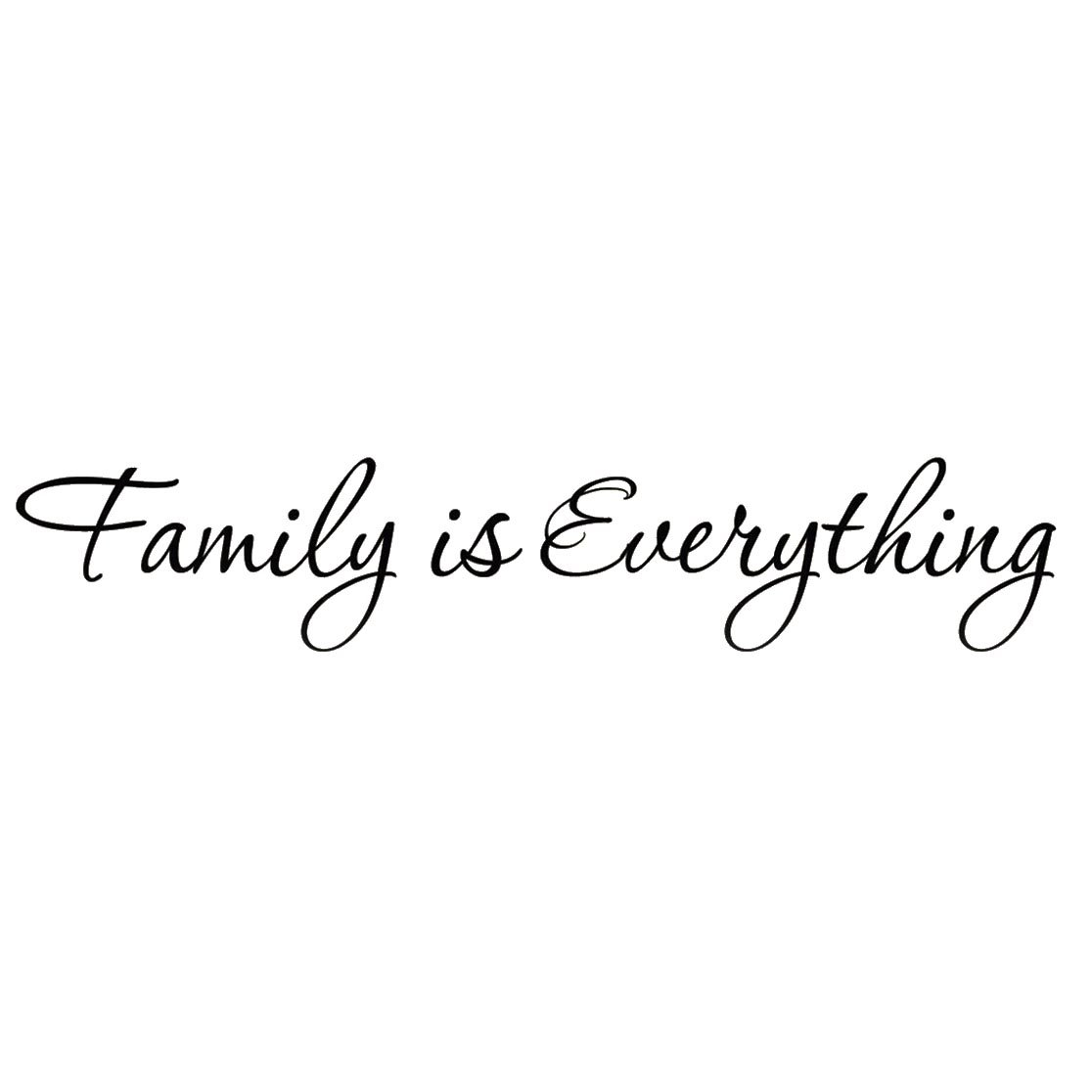 Family Is Everything Forever: Innovative Stencils 1225 Mblack Family Is Forever Vinyl