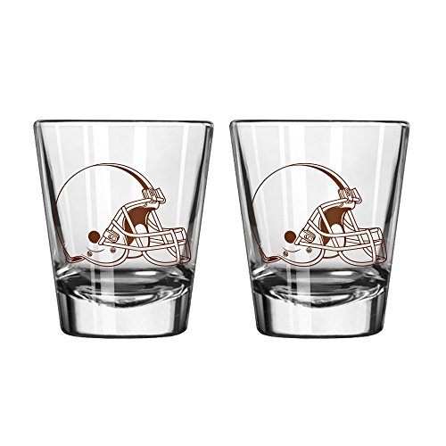 NFL Cleveland Browns Game Day Shot Glass, 2-ounce, 2-Pack