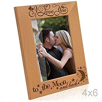 Melannco 3 Piecei Love You To The Moon Back Plastic Collage Frame