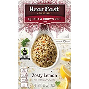 Near East Quinoa and Brown Rice Blend, Zesty Lemon, 5.22 oz per box, (Pack of 12 Boxes)