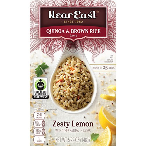 Near East Quinoa and Brown Rice Blend, Zesty Lemon, 5.22 oz per box, (Pack of 12 Boxes) -
